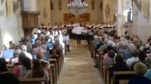 Concert de la Chorale en l'église du Bourg le 2 octobre 2016