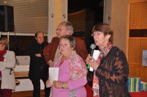 Discours de la Présidente A.Corbin et de l'adjointe à la culture lors de l'Inauguration