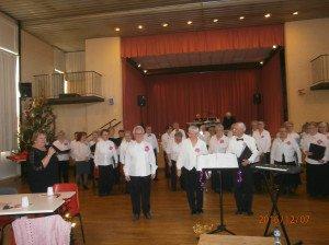 """Prestation de la Chorale du Club de Retraites """"rencontres"""""""